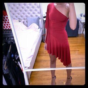 Sexy red salsa dress nasty gal !